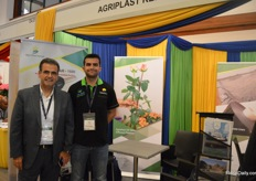 Ertugrul Molulu and Ilker Yildirim of Agriplast, a greenhouse material supplier. Over the last 2-3 years, they have seen the production of Herbs peaking.