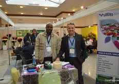 Jacob Juma and Olcay Karadayi of Vatan Plastics. Tjis turish plastic film manufacturer expanded its assortment with different agricultural products.