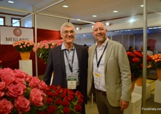 Bruno Etvard of Meilland and Jeroen Oudheusden of FSI, who was visiting the show.