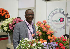 Clement Tulezi, CEO of the Kenyan Flower Council (KFC). He succeeded Jane Ngige about 1.5 years ago. They are taking care of the many challenges the Kenyan industry is facing.