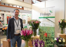 Piet Kelderman of Finlays. About 2 years ago they started to supply bouquets.They grow all their flowers themselves.