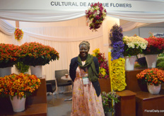 Grace Owiti of Cultural de Afrique. They grow summer flowers and spray roses on 12 ha and mainly export them to Europe, the UK and Russia.