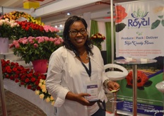 Esther Kabugi of Fresh Handling Kenya, a freight forwarder, was also visiting the show.