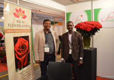 Vijay Kumar and Cornel Muganda of Balaji Flowers Limited. They are currently growing roses on 4ha but the plot is much bigger, so they have the option to expand the farm in the future.