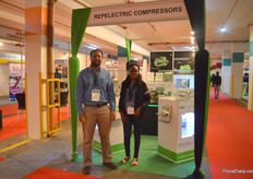 Gulbinder Mangat and Mercy Mwende of Repeltric Compressors. They are the agent of German company Bitzer compressors and supply compressors, part repair and maintain them.