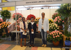 The team of Ininya Roses Limited and Porini Flowers. Isinya Roses is their 35ha low altitude farm (1,800m) and Porini Flowers their 29ha high altitude farm (2,865m). Both farms are recently have become FairTrade certified.