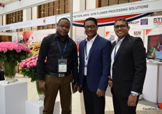 Walter Ambane, Lashita Perera and anishka Wijesinghe of Oman Air Cargo were also visiting the show.