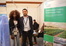 Andreen Odull of Agriplast and Yousef Jawdat Hamad of Taldeen. Taldeen is a plastic company in Saudi Arabia and Agriplast is their distributor in Kenya.