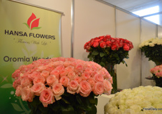 Ethiopian rose grower Hansa Flowers was also presenting its flowers at the show.