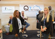 Esther Kimaru and Colleen Taute of Q7 Air Cargo.