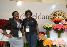Juliana Rono of Karen roses received a visit of Sally Kosgei of Floralife. At the show, Karen Roses put their brand Eldama in the spotlight. Recently, they added 8ha to their farm and they are now growing roses and spary roses on 83ha.