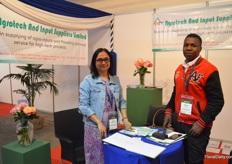 Jayanti Banerjee and Raphael Nyonje of Agrotech and input suppliers. They sell their own formulated organic plant nutrient and fertilizers. Besides that, they are also consultants for roese and vegetable growers.