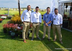 The gentlemen of Ramm Botanicals and Kalantzis, a Greek-Australian cooperation present at the FlowerTrials in Holland for the first time.