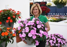 Gill Corless with the Sun Patiens of Sakata.
