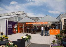 Retail area at Dümmen Orange at their location in Germany.