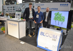 Michiel de Jong, Warren Russen Jason Verhoef with Moleaer, showing the Bloom 150 thats being used by more and more growers in both the US as well as Europe. One of them is Kruidenaer, read their story here.