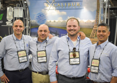 The Excalibur Plastics team - or is it more a family? In the photo Dean Colasanti, David Boutros, Josh Carnevale Mike Garganta. The company supplies amongst others greenhouse plastic, energy curtains, woven groundcover water storage tanks to the North American and Mexican industry and has been expanding steadily since they were founded in 2002.