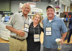 Time to toast! You can leave that to Bert Neeft with Total Energy Group, Julie Gilbert -Vijverberg with GV Greenhouse Solutions Dave Burwell with LL Klink.
