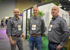 With many of their products being shown on the Agrinomix booth, Ad Kranendonk, Ard Flier (both Flier Systems) and Wim Blijleven (Indigo Logistics) couldn't miss out on the Cultivate either.