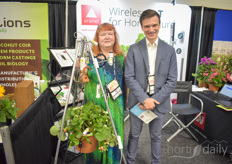 Maija Strauts Tom Reksna with Aranet, showing their wireless solutions for horticultural measuring.