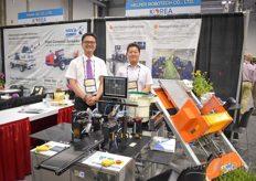 Helper Robotech was present at the show of course, showing their grafting solutions. In the photo Jeremy Park Chang Joon.
