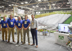 Kurt Magstadt, Heath Spradley, Bill Mathis, Stuart Summer with Atlas Greenhouses are visited by Adam Roush with Costa Farms