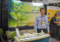 Steve Perry with Adapt8, showing the Solexx greenhouse coverings.