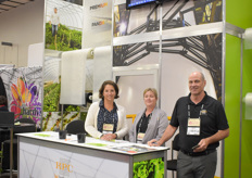 Amy Lynch, Elizabeth Nyberg Colin Field with RPC BPI Horticulture.
