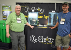 Dennis Clark with O2 Grow Dion Graber with Micro Farms.