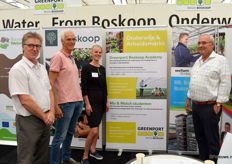 Greenport Boskoop informed all the visitors about the new options to grow in the sector to do some targeted training. The stand was manned by Ron Kervezee from the Townschip op Alphen aan de Rijn, Peet Stolwijk from the Welland College and Anja van Tilburg together with Kees Vermeulen wich are both from Greenport Boskoop.