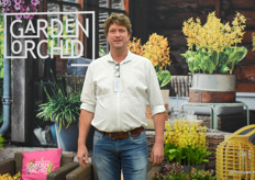 Dennis Veldhoven form Anthura was also there together with his Garden Orchids.