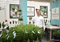 Peter van der Kamp of Quality Green Plants, a green plant nursery that grows 3 groups of garden plants; conifer, ilex and picea conica. According to van der Kamp, the demand for Ilex has increased sharply over the last years, due to the problem in boxwood. Particularly the male type is in high demand as it doesnt produces fruits, only small white flowers that attract bees.