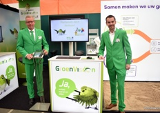 Jan Kastelein and Elmar Visser of GroenVision. They supply company software for tree nurseries and traders.