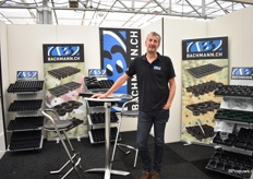 Erwin Verbraeken of Bachmann presents their 3 product groups, namely sow/cutting, cultivation and transport trays.