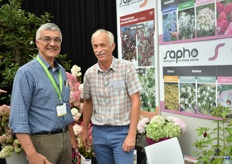 Bruno Etavard of Meilland was exhibiting the show and also paid a visit to Olivier Pantin of Sapho. Their  Hydrangea Paniculata 'Rensam; (Framboisine) won the bronze award.