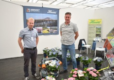 Ludwig Eberspächer and Carsten Strasser of Hauert, demonstrating the mobile robots of Harvest Automation they distribute. They are currently also working on a fertilizer dispenser on the robot.