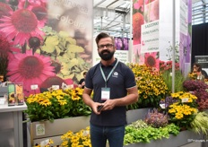 Darek Snieg of Vitroflora. The Eye-catcher at their booth are the Rudbeckias.