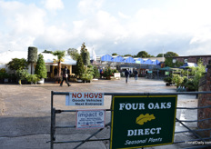 The entrance to the Four Oaks. The show is in its 49th year brings together around 350 companies - of which over 35% come from overseas - in the 23 acre Four Oaks nursery site in Cheshire UK. Currently, the exhibition covers an area of 17,000m² under glass with additional outdoor areas.