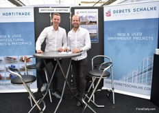 Mark Scheffers of DS Hortitrade and and Coen van der Kruk Debets Schalke. They currently have several projects running in the UK mainly for vegetable growers.