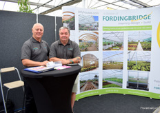 Garry Summerfield and Chris Rowland of Polyhouses, a division of Fordingbridge. They supply polytunnels in the UK and Ireland to the horticulture industry as a whole.