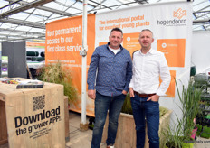 Piet Bron of Empho and Marco Wesselink of Hoogendoorn, a Dutch wholesaler of young plants and ornamental grasses.