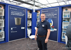 Anthony Clarke of Pöppelmann sees an increased demand for their recycled and recycable alternatives and various growers already use Pöppelmann Blue.