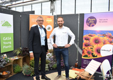 Torben Nielsen of GASA Young Plants and Michel Groenewegen of Selecta One. Selecta supplies the UK growers with young plants via Gasa.