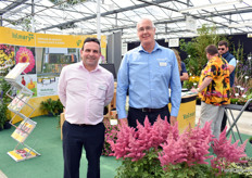 Nigel Johnson and Andrew Rutter of Volmary. They are growing on the UK market.