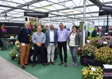 Botanics Internatioal is the Agent of PAC, Walter Blom Plants and Hishtil. In the picture: Jörg Mehle of PAC, Marc Hodson of Turcieflor, Stephen Page of Walter Blom Plants (who also supplies Turcieflor's varieties, Peter Collins of Botanics International and Ayelet Shevah of Hishtil.