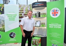 Kevin Flitton of Hydrotherm won the Best Retail product award for Seedheat professional propagation heat system