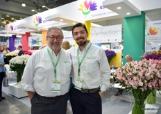Camilo Bazzani and Pablo Bazzani of Plazoleta, part of the Perfection group, which Ecuadorian Flower farm Esmeralda recently joined. Plazoleta recently launched an innovative post-harvest method: Dry-C Technology for cut flowers, for more information, see: https://www.floraldaily.com/article/9099795/new-tech-keeps-flowers-fresh-from-harvest-to-shipping/
