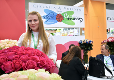 Anna Lisetska of Cicasia Vuelen. This Colombian companhy mainly supplies to Europe, the USA and Australia and is eager to grow on the Russian market.