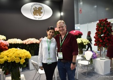 Ana Vaughan and Richard Vaughan of Singha Farms, one of their 3 farms (total 30ha) that are specialized in roses. At their farm in Medillin, they also grow hydrangeas. They sell their products worldwide and are eager to gain back the market share in Russia they lost.
