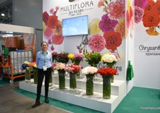 Margaria Useche of Multiflora, a Colombian flower farm that is celebrating its 50th anniversary this year.They grow several flowers at their 40ha farm and their main product is the carnation. Russia is their second main market after Japan.